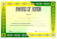 Free 14 Ideas Of Honor Certificate Template Word In Two with Printable Honor Award Certificate Templates