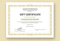 Free 19 Gift Certificate Examples In Psd  Word  Ai regarding Indesign Gift Certificate Template
