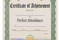 Free 21 Award Certificates Samples  Templates In Ms Word within Perfect Attendance Certificate Template