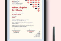 Free 23 Sample Adoption Certificates In Ai  Indesign pertaining to Unicorn Adoption Certificate Templates