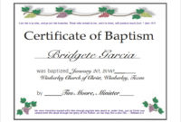 Free 23 Sample Baptism Certificate Templates In Pdf  Ms for Best Baptism Certificate Template Word