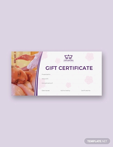 Free 24 Gift Certificate Examples In Word  Psd  Ai throughout Free Spa Gift Certificate Templates For Word