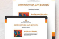 Free 26 Certificate Of Authenticity Samples In Ms Word regarding Certificate Of Authenticity Photography Template