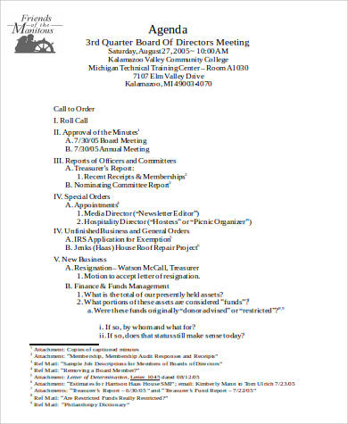 Free 30 Agenda Format Samples In Ms Word  Pdf with regard to Financial Meeting Agenda Template