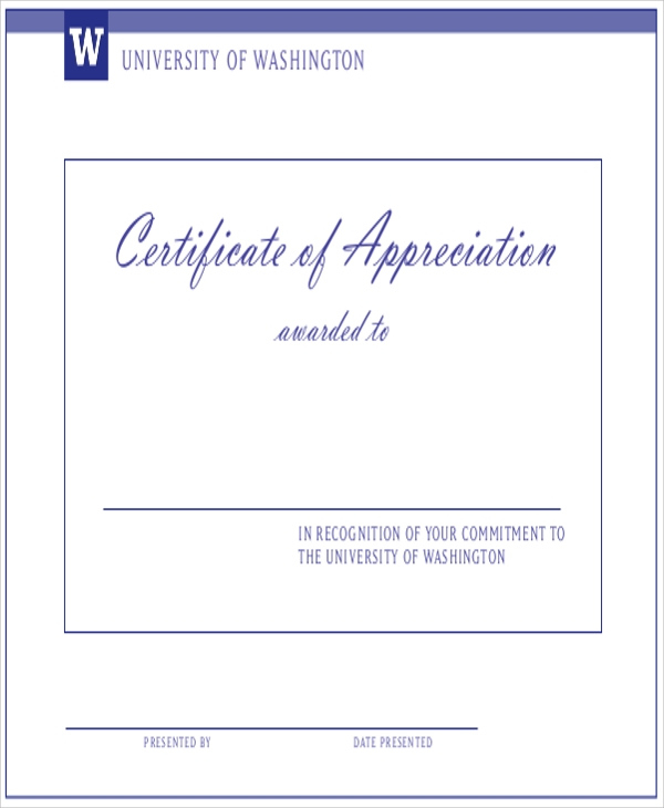 Free 32 Sample Certificate Of Appreciations In Ms Word intended for Employee Appreciation Certificate Template