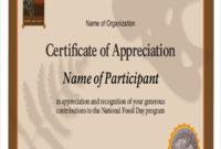 Free 32 Sample Certificate Of Appreciations In Ms Word regarding Certificates Of Appreciation Template