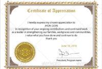 Free 34 Sample Certificate Of Appreciation Templates In for Quality Editable Certificate Of Appreciation Templates