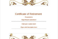 Free 38 Sample Certificate Templates In Ms Word  Pdf with regard to Retirement Certificate Template