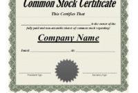 Free 40 Free Stock Certificate Templates Word Pdf ᐅ within Blank Share Certificate Template Free