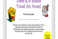 Free 40 Sample Award Certificates In Ms Word  Psd  Ai  Eps pertaining to Art Award Certificate Template