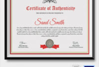 Free 45 Sample Certificate Of Authenticity Templates In for Certificate Of Authenticity Free Template