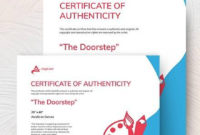 Free 45 Sample Certificate Of Authenticity Templates In pertaining to Certificate Of Authenticity Template