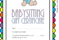 Free 7 Babysitting Gift Certificate Template Ideas For throughout First Aid Certificate Template Top 7 Ideas Free