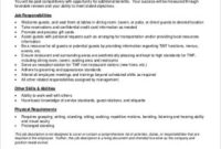 Free 7 Restaurant General Manager Job Description Samples with regard to Amazing Restaurant Managers Log Template