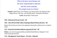Free 8 Board Meeting Agenda Samples In Pdf pertaining to Quality Committee Meeting Agenda Template