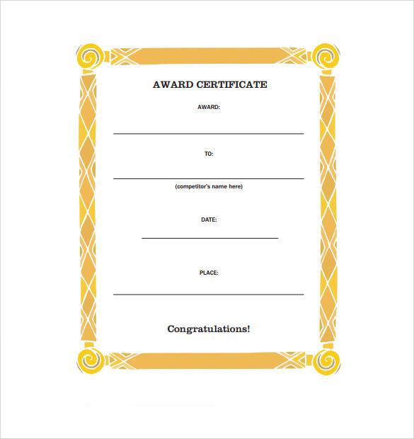 Free 8 Congratulation Certificate Templates In Pdf with Awesome Congratulations Certificate Template