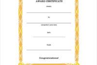 Free 8 Congratulation Certificate Templates In Pdf within Congratulations Certificate Templates