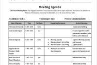Free 8 Sample Meeting Agenda Templates In Pdf intended for Awesome Agenda For A Meeting Template