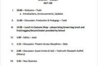 Free 8 Sample Staff Meeting Agenda Templates In Pdf inside Free Meeting Agenda Sample Template Free
