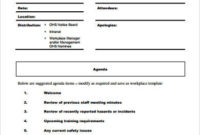 Free 8 Sample Staff Meeting Agenda Templates In Pdf with regard to Template For An Agenda For A Meeting
