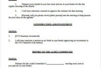 Free 9 Board Meeting Agenda Samples In Pdf  Ms Word within Committee Meeting Agenda Template