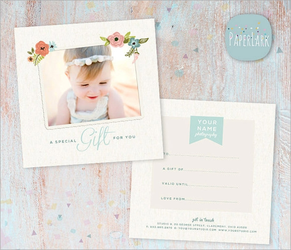 Free 9 Sample Attractive Photography Gift Certificate in Free Photography Gift Certificate Template