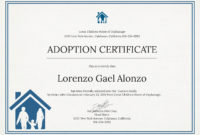 Free Adoption Certificate Template In Psd Ms Word pertaining to Dog Adoption Certificate Editable Templates
