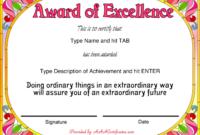 Free Award Certificate Templates Sample Complaint Email regarding Handwriting Award Certificate Printable