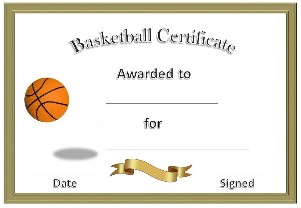 Free Basketball Certificates Templates  Activity Shelter with Free Cooking Contest Winner Certificate Templates