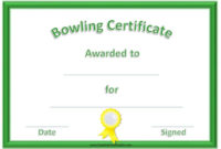 Free Bowling Certificate Template with regard to Free Bowling Certificate Template