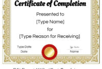 Free Certificate Of Completion  Customize Online Then Print pertaining to Best Certificate Of Completion Template Free Printable