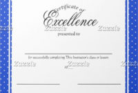 Free Certificate Of Excellence Template in Free Certificate Of Excellence Template