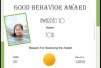 Free Certificate Of Good Behavior  Customize  Print with Best Good Behaviour Certificate Templates