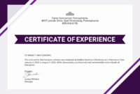 Free Certificate Of Job Experience Template  Certificate with Awesome Good Job Certificate Template