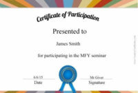Free Certificate Of Participation  Certificate Of in Writing Competition Certificate Templates