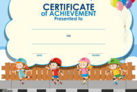 Free Certificate Template For Kids  Dalepmidnightpigco throughout Swimming Certificate Template