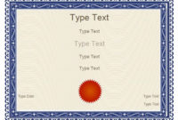 Free Certificate Templates  Blank Certificates  Free with Best Blank Award Certificate Templates Word