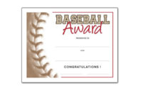 Free Certificate Templates For Youth Athletic Awards inside Quality Editable Baseball Award Certificates