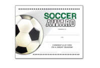 Free Certificate Templates For Youth Athletic Awards intended for Awesome Soccer Award Certificate Template