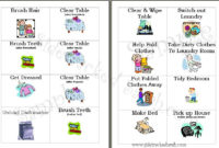 Free Chore Cards For Your Family  Chore Cards Printable with Free Certificate For Take Your Child To Work Day