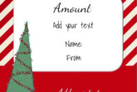 Free Christmas Gift Certificate Template  Customize within Present Certificate Templates
