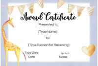 Free Custom Certificates For Kids  Customize Online with Free Printable Certificate Templates For Kids
