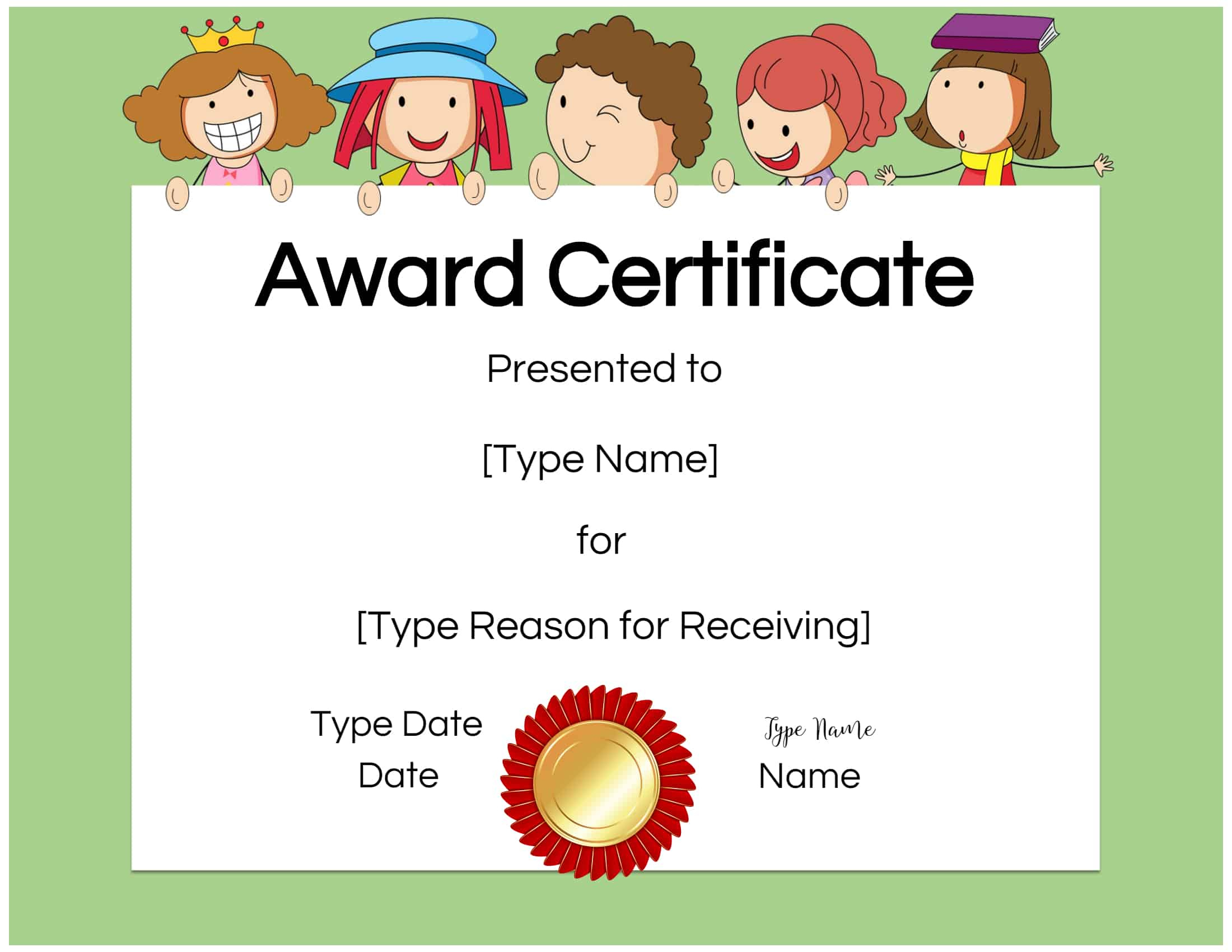 Free Custom Certificates For Kids  Customize Online with regard to Free Free Printable Certificate Templates For Kids