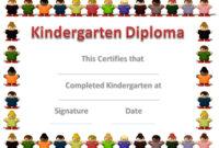 Free Custom Kindergarten Graduation Certificates throughout 10 Kindergarten Graduation Certificates To Print Free
