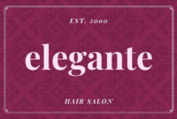 Free Custom Printable Hair Salon Gift Certificate in Free Printable Hair Salon Gift Certificate Template