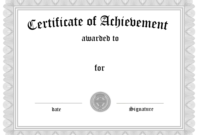 Free Customizable Certificate Of Achievement With Regard regarding Awesome Blank Certificate Of Achievement Template
