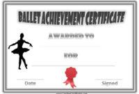 Free Dance Certificate Template  Customizable And for Dance Certificate Template