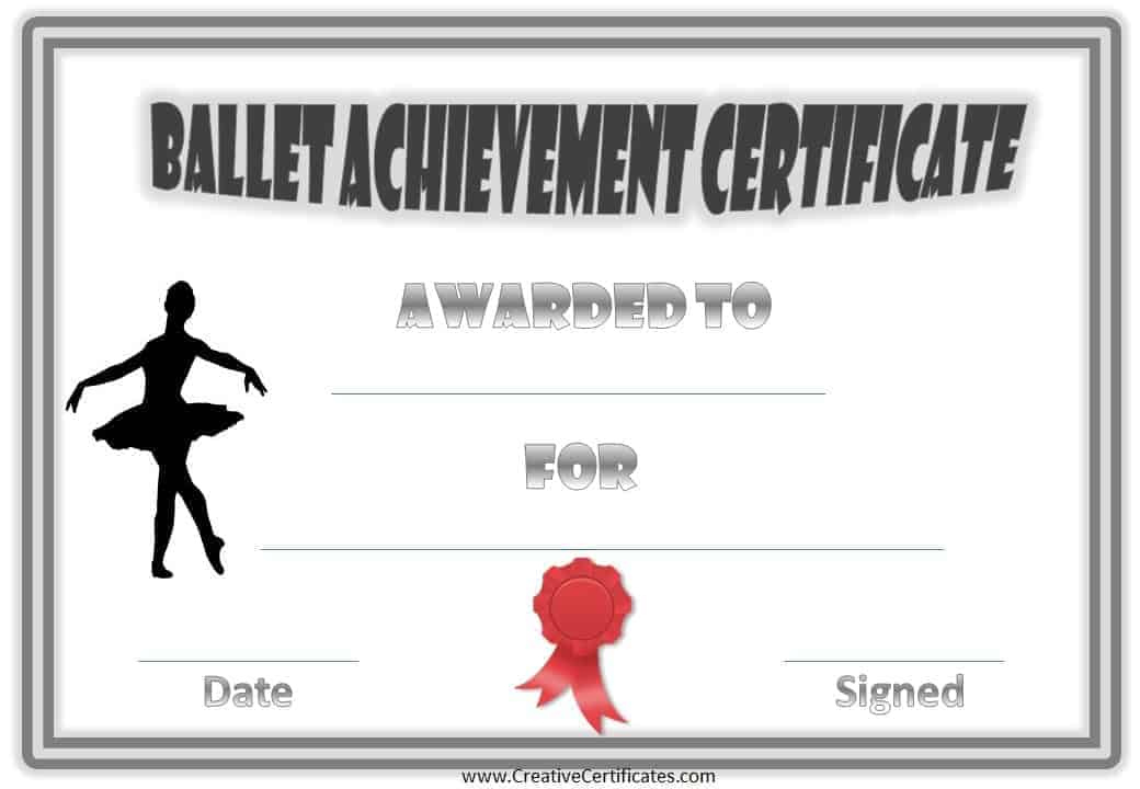Free Dance Certificate Template  Customizable And Printable pertaining to Dance Award Certificate Template