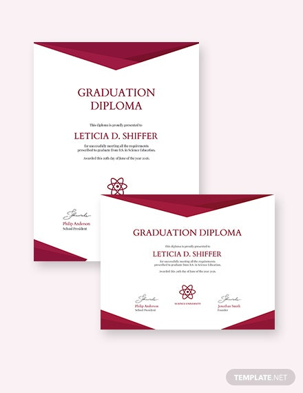 Free Diploma Of Graduation Certificate Template Download regarding Best College Graduation Certificate Template