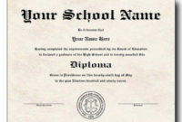 Free Diploma Templates  Business Mentor throughout University Graduation Certificate Template